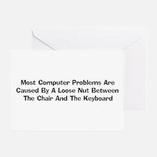 Loose Nut At Keyboard Greeting Card