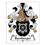 Bamberger Family Crest Small Poster