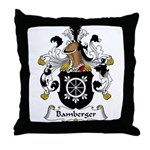 Bamberger Family Crest Throw Pillow