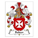 Baltzer Family Crest Small Poster
