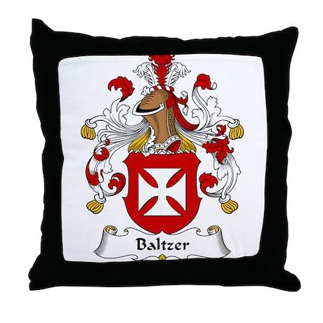 Baltzer Family Crest Throw Pillow