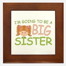 Going To Be Big Sister (rh) Framed Tile