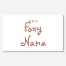 Foxy Nana Rectangle Decal