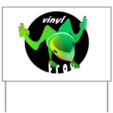 vinyl frog yard sign by tikitoon. Black Bedroom Furniture Sets. Home Design Ideas