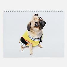 Funny Pugs Wall Calendar