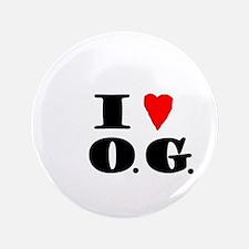 "I Love O.G. 3.5"" Button"