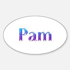 Glitter Name Pam Oval Decal