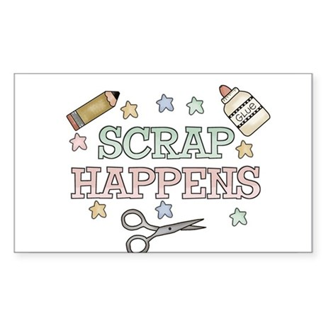 Scrap Happens Rectangle Sticker