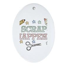 Scrap Happens Oval Ornament