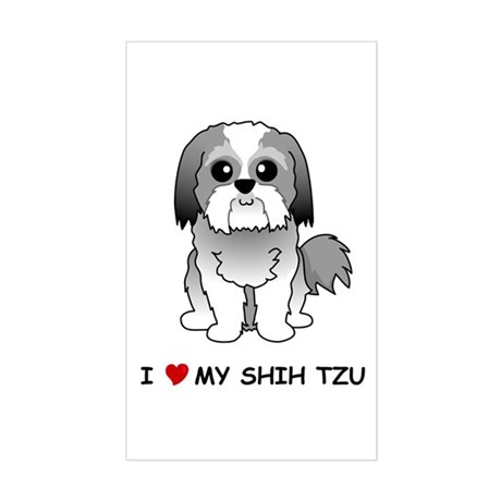 Shih Tzu Rectangle Sticker