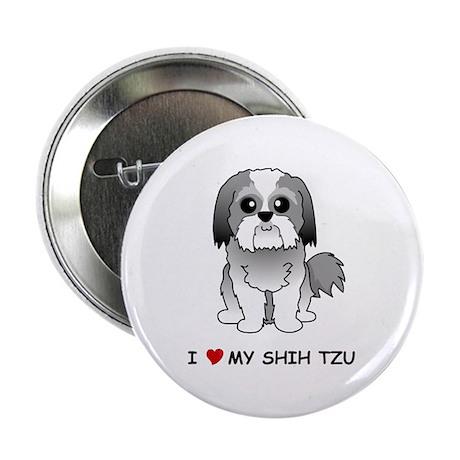 """Shih Tzu 2.25"""" Button"""