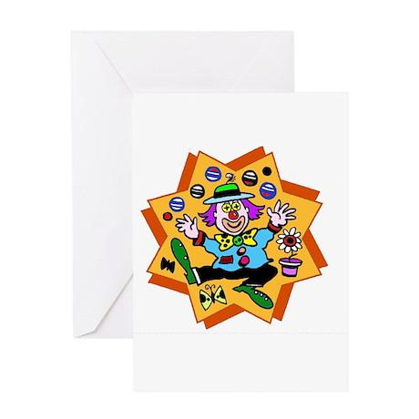 Cartoon Clown Greeting Card