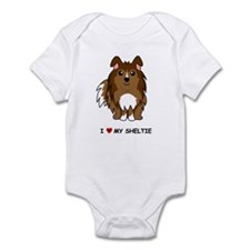 Sable Sheltie Infant Bodysuit