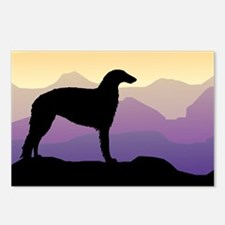 Purple Mountain Borzoi Postcards (Package of 8)