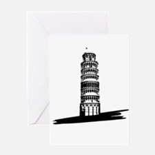 """The Tilting Earth of Pisa"" Greeting Card"