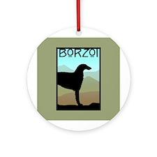 Craftsman Borzoi Ornament (Round)