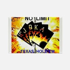 Cute Texas hold em Rectangle Magnet