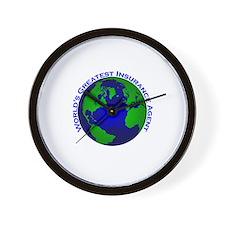 World's Greatest Insurance Ag Wall Clock