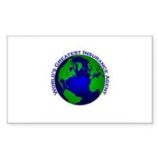 World's Greatest Insurance Ag Sticker (Rectangular