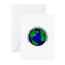World's Greatest Insurance Ag Greeting Cards (Pk o
