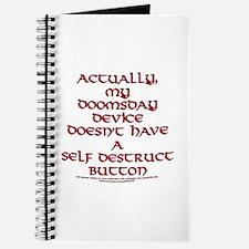 Funny Self Destruct Button Joke Journal