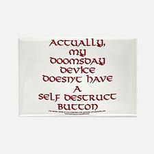Funny Self Destruct Button Joke Rectangle Magnet