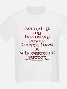Funny Self Destruct Button Joke T-Shirt