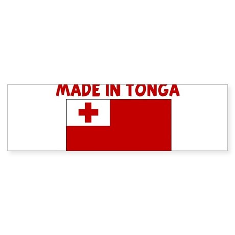 MADE IN TONGA Bumper Sticker