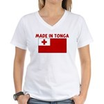 MADE IN TONGA Women's V-Neck T-Shirt