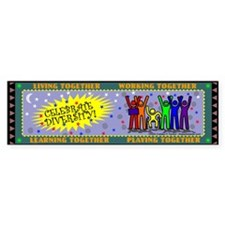 """""""Celebrate Diversity""""Bumper Bumper Sticker"""