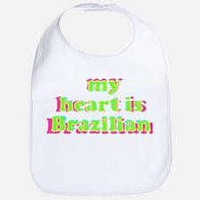 My Heart is Brazilian Bib