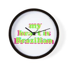 My Heart is Brazilian Wall Clock