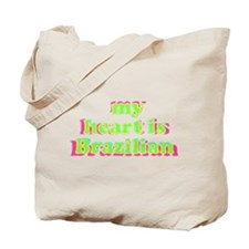 My Heart is Brazilian Tote Bag