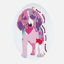 Only Puppies Should Fear Poun Oval Ornament