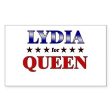 LYDIA for queen Rectangle Decal
