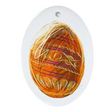 Easter Eggs Oval Ornament