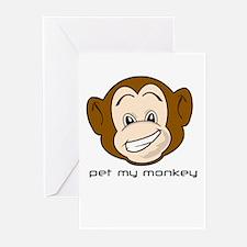 Pet My Monkey Greeting Cards (Pk of 10)