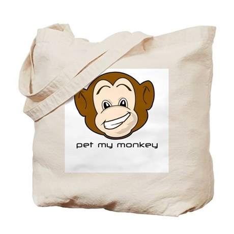 Pet My Monkey Tote Bag