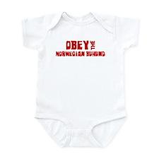 Obey the Norwegian Buhund Infant Bodysuit