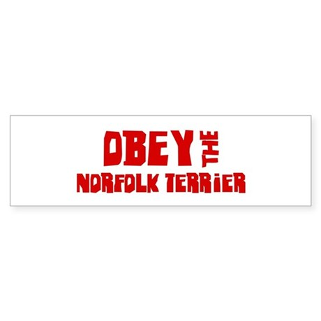 Obey the Norfolk Terrier Bumper Sticker