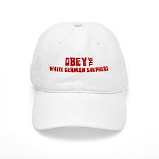 Obey the White German Shepher Baseball Cap