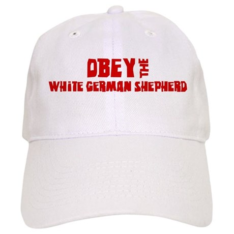 Obey the White German Shepher Cap
