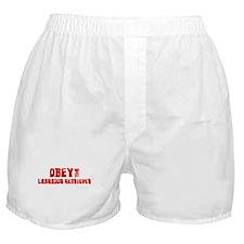 Obey the Labrador Retriever Boxer Shorts