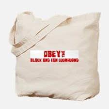 Obey the Black and Tan Coonho Tote Bag