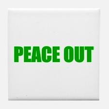 PEACE OUT Tile Coaster
