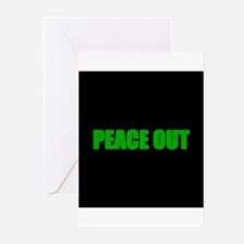 PEACE OUT Greeting Cards (Pk of 10)