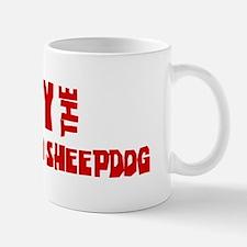 Obey the Bergamasco Sheepdog Small Small Mug