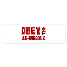 Obey the Schnoodle Bumper Car Sticker