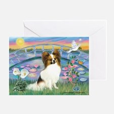 Lilies / Papillon (f) Greeting Card