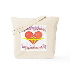 Broken Heart Sailor Tote Bag